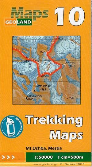 Mt. Ushba - Mestia Trekkingkarte Georgien 1:50.000