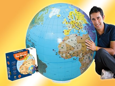 Inflatable globe 85 political XXL