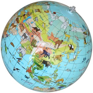 Opblaasbare Globe Dieren 30 Cm Caly Nl