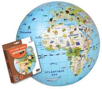 Globe gonflable 50 animaux maxi globe