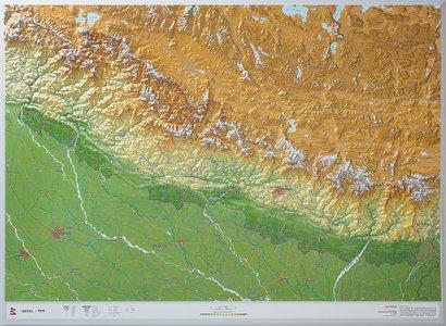 Nepal reliëf kaart