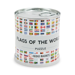 Flags of the world puzzle magnetic ENG