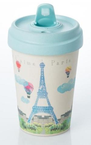 Paris Watercolor Bamboo cup