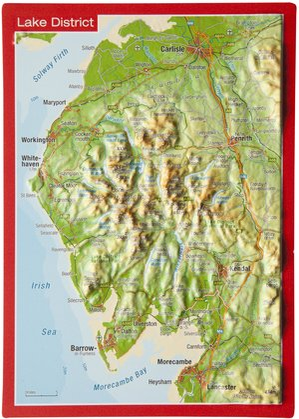 Lake District reliëfpostkaart
