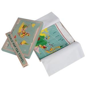 Theedoek vintage world map