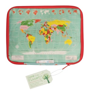 Tablet hoes vintage world map
