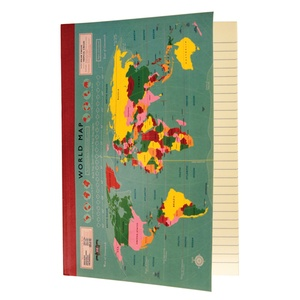 Notebook A5 vintage world map