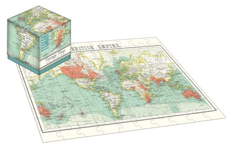 100 Piece Cube Jigsaw Vintage Map