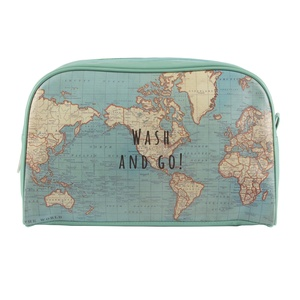 Toiletzak Wash & Go RETRO vintage world map