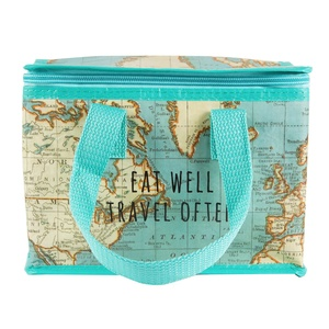 Lunch bag RETRO vintage world map