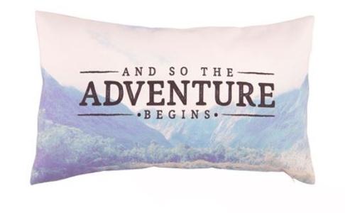 Kussen adventure wanderlust