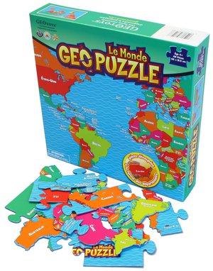 GeoPuzzle Monde 68 pièces (FR) 610 x 318 mm
