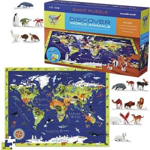 World Animals 100 World Map Puzzle & Play  Crocodile Creek