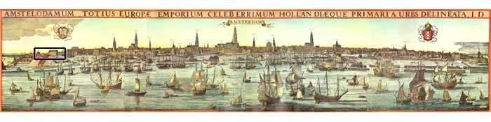 Amsterdam Panorama kaart 17e Eeuw