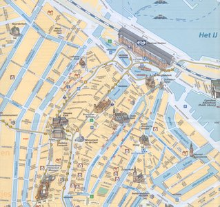 Amsterdam Centrum Carto Plano Papier