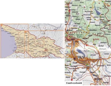 Georgie Road Map 1:500.000 Geoland