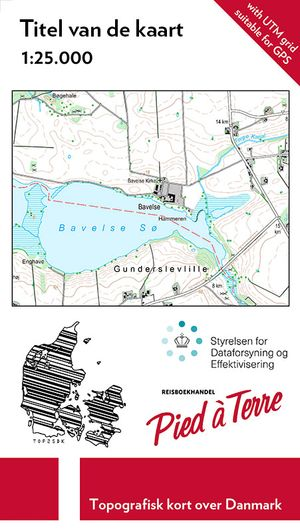 Denemarken topografische kaart op maat  1:25.000