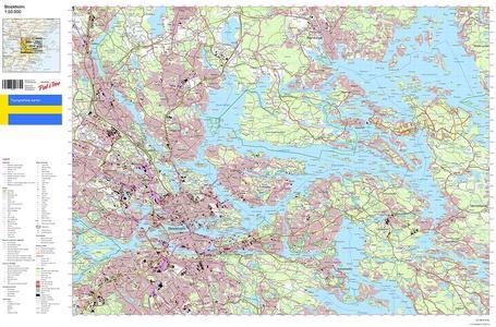 Kaart-op-maat Zweden 1:50.000
