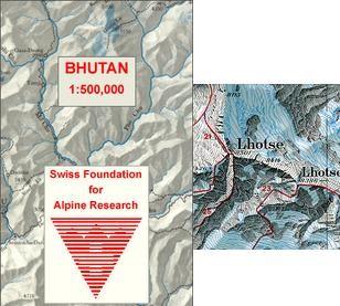 Bhutan Himalaya 1:50.0000d Ssaf05
