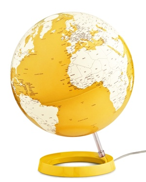 Globe light & colour yellow 30 eng.