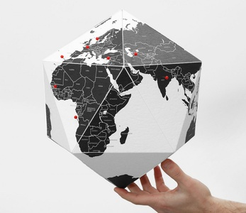 Here by countries - personal globe large 41cm diameter