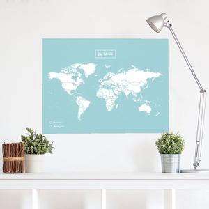Woody map Xlarge blauw wit 90 x 60cm