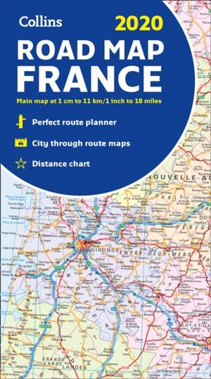 2020 Collins Map Of France