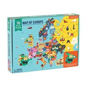 Map of Europe puzzel met 70 stukjes