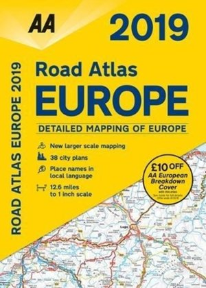 Aa Road Atlas Europe 2019