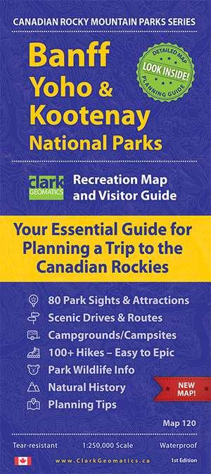 Banff / Yoho / Kootenay NP Recreatiekaart & Bezoekersgids