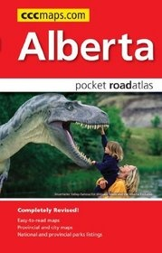 Alberta Pocket Road Atlas Zakformaat Map Art
