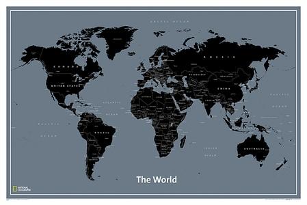 World Modern Map, Laminated