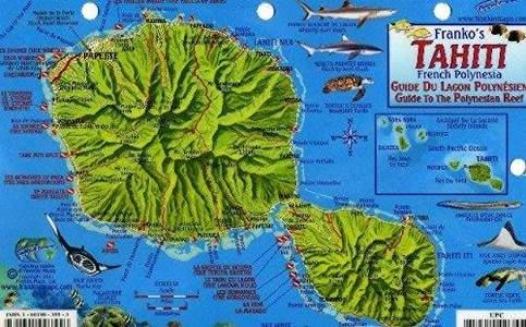 Tahiti French Polynesia Franko Reef Card