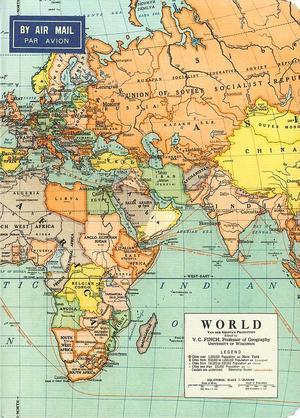 Vintage World Map notebook