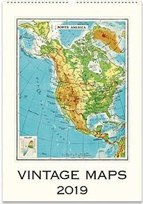 Vintages Maps kalender 2019