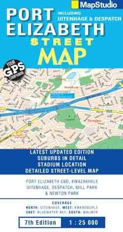 Port Elizabeth Street Map 1:25d Mapstudio