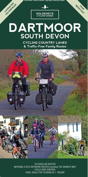 Dartmoor South Devon Cycling Country Lanes & Traffic-free Family Routes fietskaart