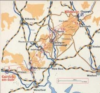 South Leinster Way Map-guide Eastwest