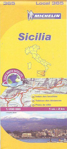 365 Michelin - Sicilia Wegen- En Fietskaart - 1: 220.000