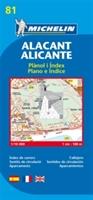 Alicante - Michelin City Plan 81