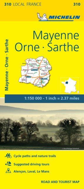 Mayenne, Orne, Sarthe - Michelin Local Map 310