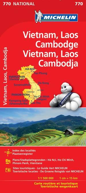 Vietnam Laos Cambodja Michelin 770