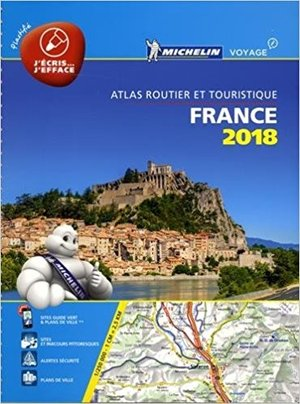 Michelin France Atlas Routier 2018 Geplastificeerd