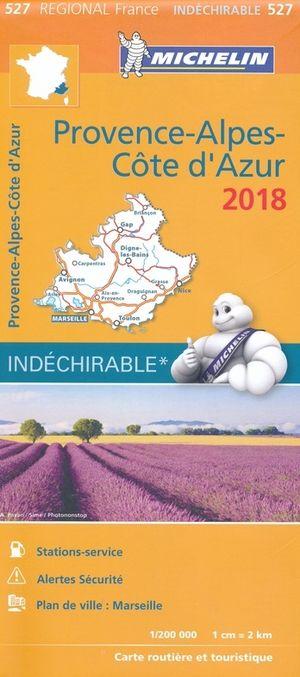 Michelin 527 Provence, Alpes, Cote D'azur 1:200d 2018