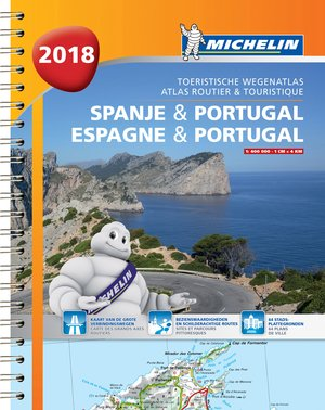 Atlas Michelin Spanje & Portugal 2018