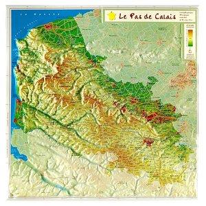 Pas De Calais Reliefkaart Georelief