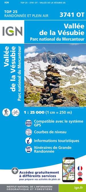 IGN 3741OT Vallée de la Vésubie / PN du Mercantour Top25