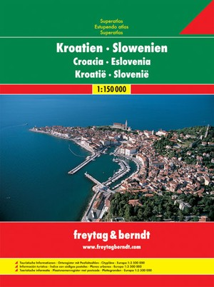 Kroatië & Slovenië Wegenatlas F&B