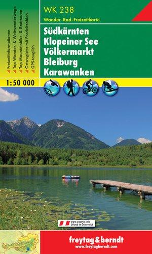 F&B WK238 Süd Kärnten / Zuid-Karinthië, Klopein See, Völkermarkt, Bleiburg, Karawanken