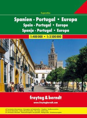 Spanje & Portugal wegenatlas F&B